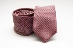 Prémium slim nyakkendő - Mályva pöttyös