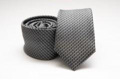 Prémium slim nyakkendő - Szürke pöttyös