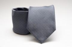 Prémium nyakkendő -  Acélszürke pöttyös