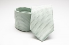Prémium nyakkendő -  Halványmenta pöttyös Aprómintás nyakkendők