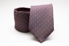 Prémium nyakkendő -  Lila pöttyös