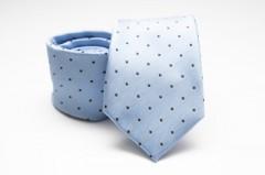 Prémium nyakkendő - Világoskék pöttyös Aprómintás nyakkendők