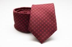 Prémium nyakkendő - Meggybordó mintás Aprómintás nyakkendők