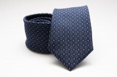 Prémium nyakkendő - Sötétkék rombusz mintás Kockás nyakkendők