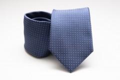 Prémium nyakkendő - Farmerkék pöttyös Aprómintás nyakkendők