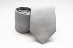 Prémium nyakkendő - Ezüst pöttyös Aprómintás nyakkendők