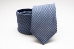 Prémium nyakkendő - Kék pöttyös Aprómintás nyakkendők