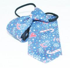 Gumis gyereknyakkendő (mini)  - Kék karácsonyi