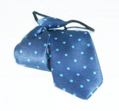 Gumis gyereknyakkendő (mini)  - Kék pöttyös Gyerek nyakkendők