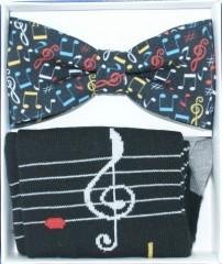 Díszdobozos szett - Violin kulcs Csokornyakkendők