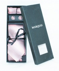 Marquis nyakkendő szett - Rózsaszín mintás Szettek
