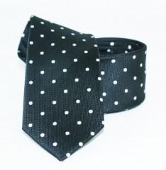 Goldenland slim nyakkendő - Fekete pöttyös Mintás