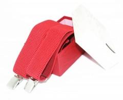 Férfi nadrágtartó díszdobozban - Piros Férfi nadrágtartók