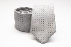Prémium selyem nyakkendő - Ezüst pöttyös