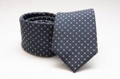 Prémium selyem nyakkendő - Sötétkék kiskockás Selyem nyakkendők