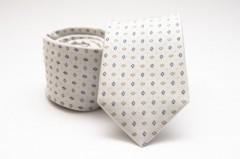 Prémium selyem nyakkendő - Natur kockás Selyem nyakkendők