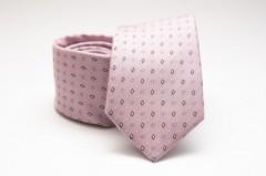 Prémium selyem nyakkendő - Rózsaszín kockás Selyem nyakkendők