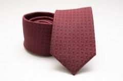 Prémium selyem nyakkendő - Meggybordó pöttyös Aprómintás nyakkendők