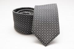 Prémium selyem nyakkendő - Sötétszürke pöttyös