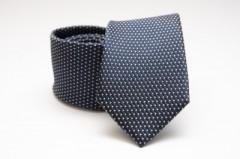 Prémium selyem nyakkendő - Mélykék pöttyös Aprómintás nyakkendők