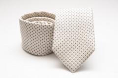 Prémium selyem nyakkendő - Natur pöttyös Selyem nyakkendők