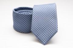 Prémium selyem nyakkendő - Kék pöttyös Aprómintás nyakkendők