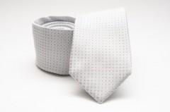 Prémium selyem nyakkendő - Fehér pöttyös Aprómintás nyakkendők