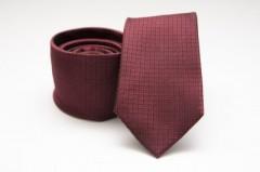 Prémium selyem nyakkendő - Bordó kockás Kockás nyakkendők