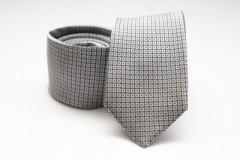 Prémium selyem nyakkendő - Ezüst kockás Kockás nyakkendők