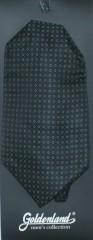 Férfi ascot sál - Fekete aprómintás Francia, Ascot nyakkendők