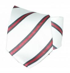 Goldenland nyakkendő - Fehér-piros csíkos