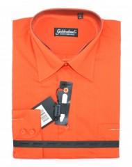 Goldenland extra hosszúujjú ing - Terracotta Hosszúujjú ingek
