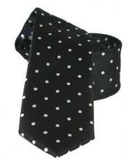 Goldenland slim nyakkendő - Fekete pöttyös