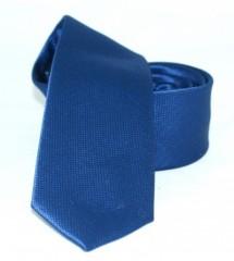 Goldenland slim nyakkendő - Kék szövött Egyszínű nyakkendők