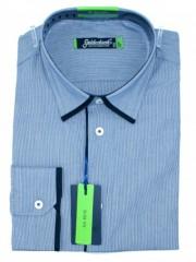 Goldenland hosszúujjú slim ing - Kék csíkos Slim, Smart fazon