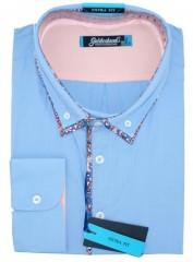 Goldenland extra hosszúujjú ing - Kék  Hosszúujjú ingek