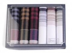 Zsebkendő csomag díszdobozban - 6 db Pamut zsebkendő