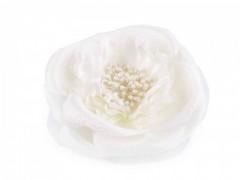 Virág kitűző - Fehér