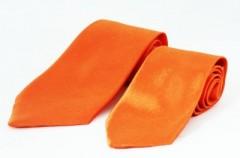 Szatén apa-fia nyakkendő szett - Narancssárga Apa-fia szettek