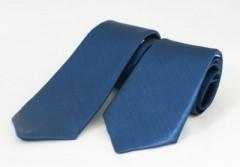 Szatén apa-fia nyakkendő szett - Kék Apa-fia szettek