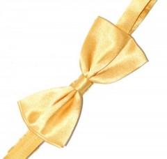 Gyerek szatén csokornyakkendő - Aranysárga Csokornyakkendők