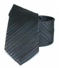 Goldenland slim nyakkendő - Fekete csíkos Csíkos nyakkendők