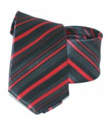 Goldenland slim nyakkendő - Piros-fekete csíkos