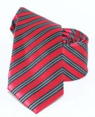 Goldenland slim nyakkendő - Meggypiros csíkos Csíkos nyakkendők