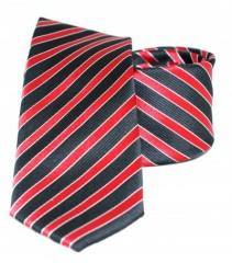 Goldenland slim nyakkendő - Meggypiros-fekete csíkos Csíkos nyakkendők