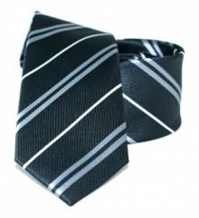 Goldenland slim nyakkendő - Fekete csíkos