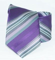 Classic prémium nyakkendő - Lila csíkos