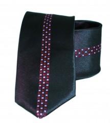 Classic prémium nyakkendő - Fekete mintás