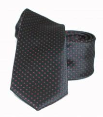 Goldenland slim nyakkendő - Fekete-piros aprópöttyös