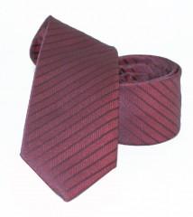 Goldenland slim nyakkendő - Bordó csíkos Mintás